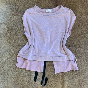 Dusty Rose Shirt Open Back with Bows